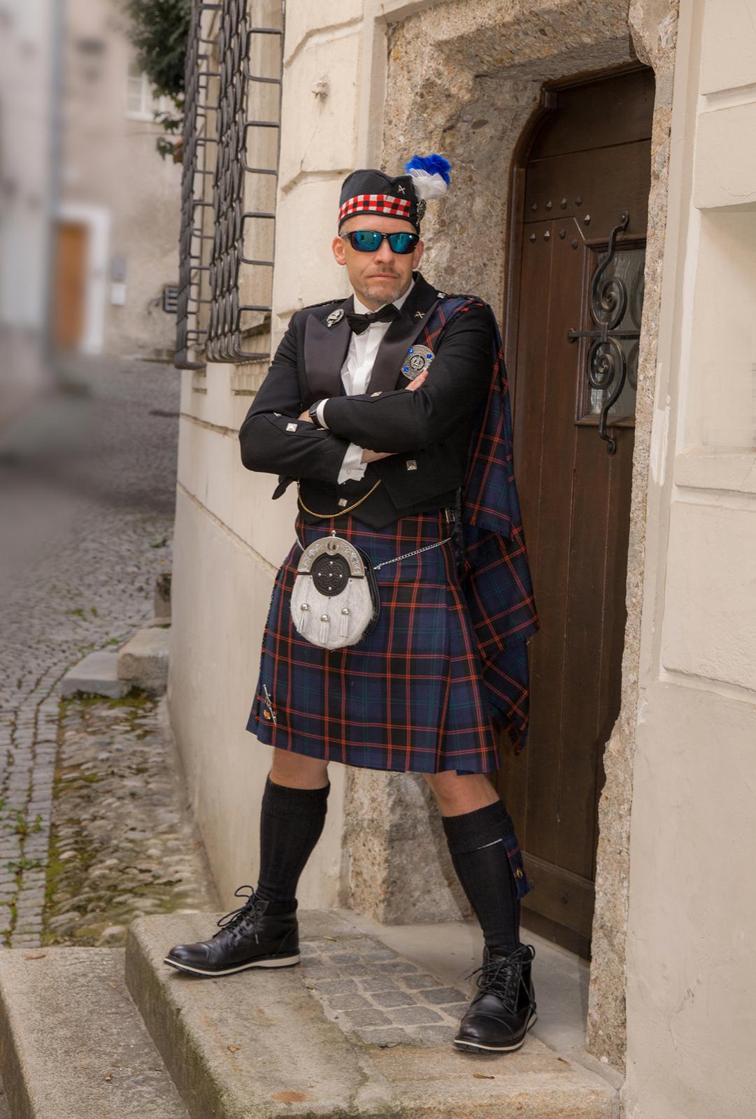 Hochzeitsfotografie Schottenbräutigam